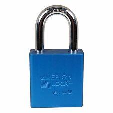 """American Lock A1105BLU Padlock 1-1/2"""" Aluminum Body Blue"""