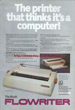 "The Ricoh Flowriter ""Vintage Hardware"" 1983 Magazine Advert #5093"