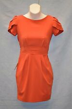 NEW Authentic ASOS Petite Salmon Wrap Sheath Cap Sleeve Dress Size 1