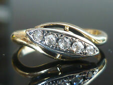 Stunning 18ct gold 5 Stone 0.20ct Old Cut Diamonds Art Deco M42