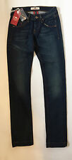 "Womens Girls Fornarina Gloria Jeans Slim Fit Dark Wash Low Rise 26""Waist BNWT"