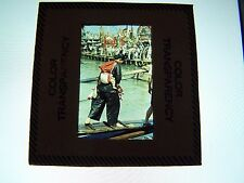 Vintage Slide Hong Kong Woman Baby on Back New Territories 1960s Photo China
