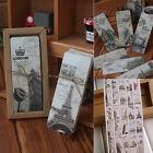 30Stk Stadt Theme Papier Bookmarks Geschenk Retro Lesezeichen Buchen Merk FS