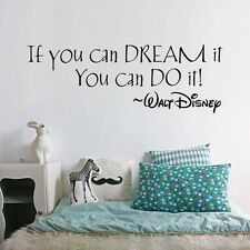 If you can Dream it You can do it Wall Sticker Home Decals Words Letters Decor