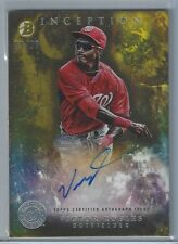 2016 Bowman Inception VICTOR ROBLES GOLD /25 RC AUTO On Card Nats #1 Prospect!!