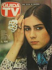 GUIDA TV 1977 N.25 ROMINA POWER GABRIELLA FERRI ENZO TORTORA RADIO E TV PRIVATE