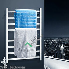 98W Electric Heated Towel Rack Rail Warmer Safety Wall 8 Double Bars Square