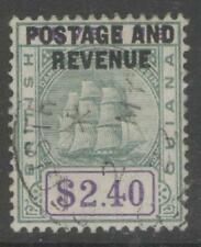 BRITISH GUIANA SG251 1905 $2.40 GREEN & VIOLET FINE USED