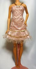 Dazzling Pink with Gold Accents Barbie Sleeveless Short Dress