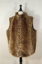 Cato  Vest Coat Jacket Reversible  Brown Leopard Faux Fur Women's Size: 22/24W