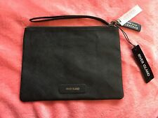 BNWT RIVER ISLAND BLACK TEXTURED REAL LEATHER CLUTCH/DOCUMENT BAG ♡♡♡
