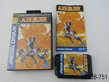 Complete Alien Soldier Mega Drive Japanese Import Sega Japan CIB US Seller Rare