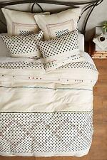 NWT Anthropologie Nomad Duvet Cover Queen Size Neutral Color Free Shipping