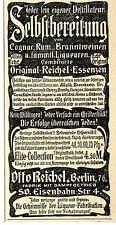 Destille Otto Reichel-Essenzen Berlin Historische Annonce 1901