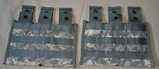 (Lot-2) NEW, Molle Triple Mag Pouch 3x30-rd ACU GENUINE US MILITARY AR/AK/SKS/M4
