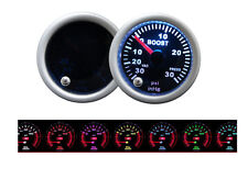 "2"" 52mm Turbo Boost 7 Color LED Gauge Pod Meter Universal Smoke Tinted"