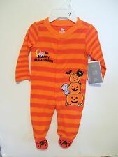 CHILD BABY 3 MTS TODDLERS ORANGE & BLACK HAPPY HALLOWEEN PUMPKIN COSTUME
