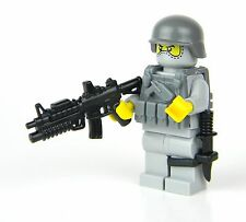Basic US Soldier Army Infantry (SKU3) made w/ real LEGO® Minifigure