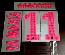 2015-16 Ligue 1 DI MARIA#11 3rd Away Shirt OFFICIAL MonBlason Name Number Set