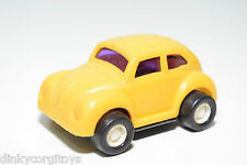 BUDDY L JAPAN VW VOLKSWAGEN BEETLE KAFER YELLOW PLASTIC EXCELLENT CONDITION