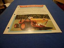 (DRAWER 1) Lely Broadcaster SP400 SP700 Specs Brochure Technical Specifications