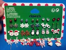 20 Cute Pairs Of Claire's Christmas Themed Earrings New On Card