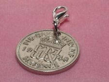 1948 68th Birthday lucky sixpence coin bracelet charm ready to hang 1948 gift