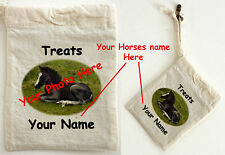 Cotton Treat Bag - Personalised with your own Horse photograph and Name