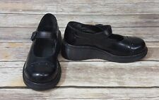 Dr. Martens Solid Black Leather Mary Janes Flat Shoes 3A32 Women's Size 5 US 7