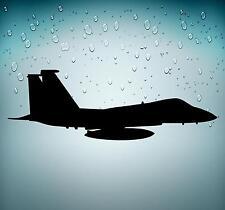 Sticker decal macbook car airplane aircraft airport PILOT plane fighter black