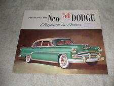Vintage Original 1954 Dodge Sales Brochure Elegance in Action