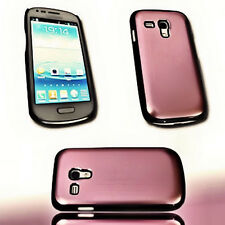 Design Alu Handy Back Cover Case Hülle  in Pink für Samsung i8190 Galaxy S3 Mini