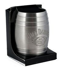 Jack Daniel's Whiskey Medium Barrel Shot Glass Swing Cartouche Logo 2oz