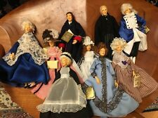 9 x Lot Peggy Nisbet Victorian Collection Dolls W/ Tags. England. M 906 915 905.