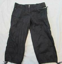 ANN TAYOR LOFT womens 4 black cropped Marisa cotton cargo capri pants comfy