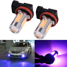 2x Xenon Purple H8 H11 High Power COB LED Bulb Car Driving Fog Light Bid