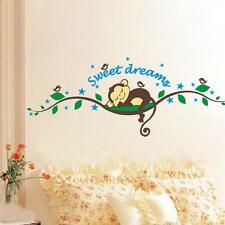 Sleep Monkey Removable Vinyl Wall Decal Stickers Art Mural Home Decor Kid Room