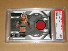 $$$ 2015 TOPPS UFC CHRONICLES MMA PAIGE VANZANT PSA 9 WORN GEAR RELIC PATCH CARD