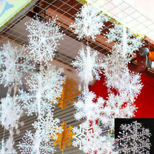 3pcs Classic White Snowflake Ornaments Christmas Holiday Party Home Decor BE