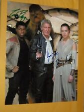 Harrison Ford Daisy Ridley John Boyega The Force ~ Signed Autograph coa