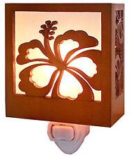 Hawaiian Tropical Night Light Home Bath Island Decor Hawaii Hibiscus New In Box