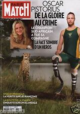 Couverture magazine,Coverage Paris Match 21/02/13 Oscar Pistorius