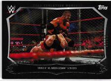 Triple H Brock Lesnar 2015 WWE Undisputed Cage Evolution Moments Black #CEM13 99