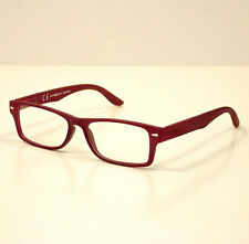 OCCHIALI GRADUATI DA LETTURA PRESBIOPIA VINTAGE RED +1,5 READING GLASSES