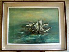 PIERO GARINO (1922 - 2009) NAVE - PITTURA AD OLIO