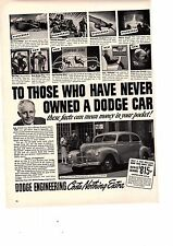 1940 Ad Dodge Division Chrysler Corp car to those that have never owned a dodge