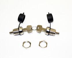 Kappen /& Schlüssel u a KAMEI 52587 Druckschloss 2 Stück inkl für Dachbox Delp