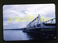 Swing-Span Bridge over Water - c1960s - Vintage 35mm Slide