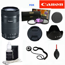Canon EF-S 55-250mm f/4-5.6 IS STM Lens PRO ZOOM KIT FOR CANON REBEL T3 T3I