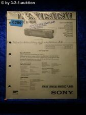 Sony Service Manual MDX C5960R /C5970 /C5970R Mini Disc Player  (#6289)